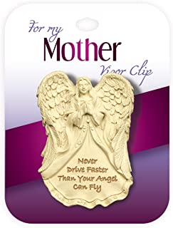Angelstar 2-1/4-Inch Tall Family Visor Clip, Mother Sentiment