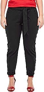 TRIANGLE 女士宽松版型:锥形打底裤 - 斜纹裤