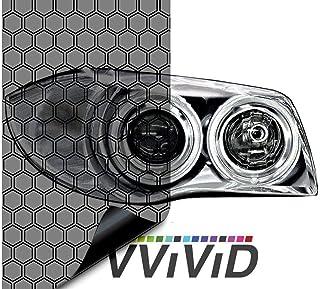 "VViViD 超宽车头灯尾灯乙烯基贴膜包装 40.64 cm x 121.92 cm 卷包括黄色细节刮板和 2X 黑色毛毡边缘贴花 16"" x 60"" vvxtrawideheadlight_hexlight"