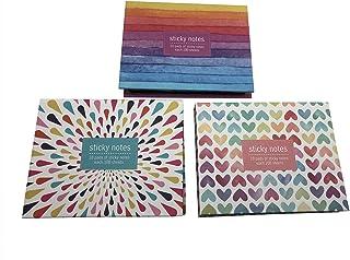 Nicepaper 可爱盒装自粘便签,便签,彩色标签,箭头旗彩色标签,彩色印刷封面,迷你设计塑料支架礼盒