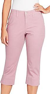 Gloria Vanderbilt 剪裁设计侧开叉袖口裤子