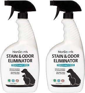 NonScents 宠物异味去除剂喷雾 – 消除宠物异味 – 用于地毯、沙发、Pee Pads – 优于烘焙的苏打和酶 2 pack (32oz each)