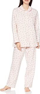 Wing/Wacoal 睡衣套装 宽松&利落 漂亮的轮廓 睡衣 长袖・长裤 迷你玫瑰图案 EP6082 女士