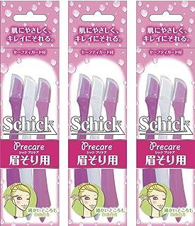 Schick Schick L一次性 一次性眉毛 刮眉使用 (3支装)×3包