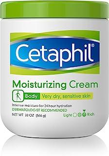 Cetaphil Moisturizing Cream for Very Dry/sensitive Skin, Fragrance Free, 20 Ounce