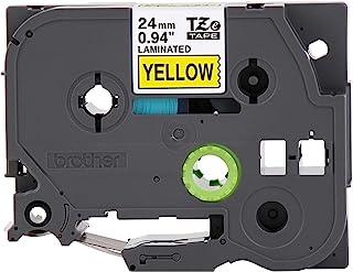 Brother 兄弟 P-Touch TZE-651 胶带 1 英寸(24 毫米)标准层压 P-Touch 胶带 黑色黄色 室内外用 防水 8 米 单包 TZE651 24 毫米