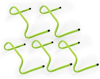 Sport Squad Speed Hurdles - 15.24 cm PVC 敏捷性训练障碍物 - 5 个障碍物套装 - 适用于足球、橄榄球或胶合训练 - 轻便小巧存放