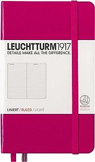 LEUCHTTURM1917 灯塔口袋型横格笔记本玫红硬封皮(A6)