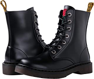 GLOBALWIN 女式系带及踝短靴军事战靴