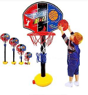 Portzon 迷你篮球框室内可调节高度 170.2 厘米 - 199.9 厘米防碎背板,黑色