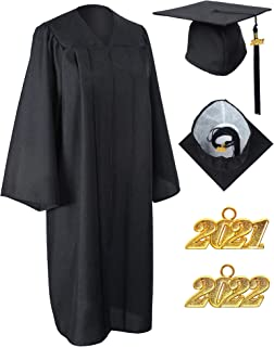 GraduationService 中性款哑光毕业礼服帽,带 2020 年流苏包装