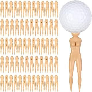 DYJKOUG 60 件 Nude Lady Model 高尔夫球 T 恤,裸色高尔夫 T 恤女士高尔夫球 T 恤,高尔夫球钉塑料模型球钉,适用于高尔夫训练