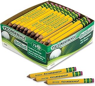 Ticonderoga DIX13472 高尔夫铅笔,黄色(72 支)(5 支 72 支装)
