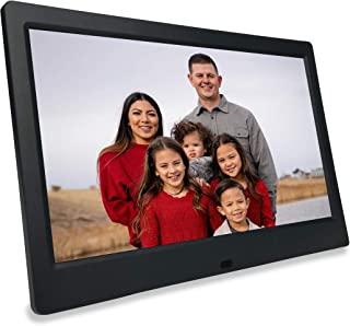 Phone2Frame 10 英寸数码相框黑色,无WiFi,无账户,使用照片备用棒从手机或电脑到框架 (128GB)