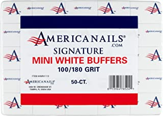 Americanails Signature 迷你白缓冲剂 100/180 粒,50 粒