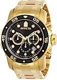 Invicta Men's Pro Diver Quartz Watch with Black Dial Chronog…