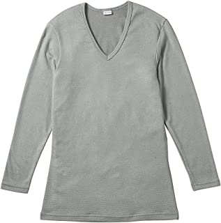 BROS 汗衫 【高级保暖】 长袖·深V领 吸湿发热 日本制造 GL5621