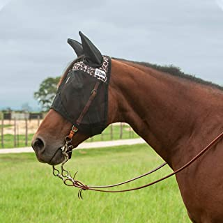 Cashel Quiet Ride Designer 带耳朵飞翔面罩,豹纹,年龄图案