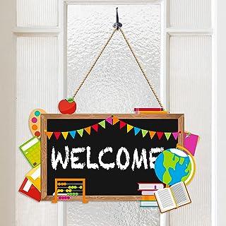 Back to School Blackboard Welcome Door Sign Teacher Appreciation Door Decorations Thank You Teachers First and Last Day of...