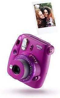 instax 16607123 Mini 9 Camera 有线接口/性别适配器70100143721 摄像机 10 拍 透明紫色