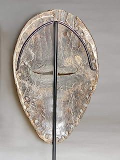 装饰面具架适用于非洲和部落面具、艺术品、玩偶、雕像,用于展示、表演和艺术展览。 不含面具。TA-127