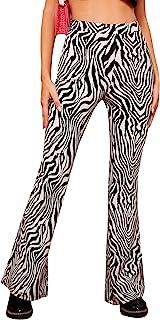 SOLY HUX 女式印花高腰喇叭裤腿长裤