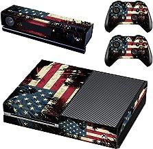 Adventure Games - 美国,鹰 - 乙烯基控制台皮肤贴花贴纸 + 2 个控制器皮肤套装 - 兼容 XBOX ONE 原创