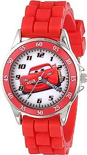 Disney 男孩石英金属和橡胶手表,颜色:红色(型号:CZ1009)