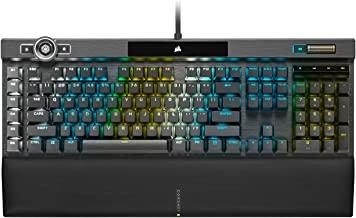 CORSIAR 美商海盗船 K100 RGB光学机械游戏键盘-Corsair OPX RGB光学机械按键开关-AXON处理技术,4倍输出,44个RGB LightEdge