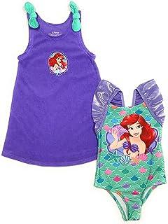 Mermaid Ariel 女婴泳装和罩衫套装(18 个月)紫色