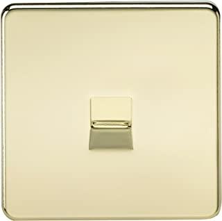 Knightsbridge SF7300PB 无螺丝电话插座,抛光黄铜,10件