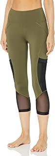 V.I.P. JEANS Performance 女式高腰瑜伽裤,带口袋网眼腿