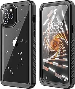 ANTSHARE 适用于 iPhone 12 / iPhone 12 Pro 防水手机壳 5G iPhone 12 / 12 Pro 手机壳 内置屏幕保护膜 全身保护 防震防尘 IP68 防水手机壳 适用于 iPhone 12 / 12 Pro 6.1 英寸