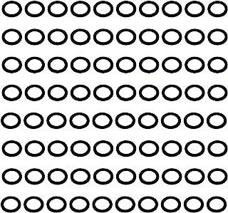 约 80 件标准尺寸联合塑料黑色垫圈 - 3.1 cm 外径X 2.2 cm 内径X 0.2 cm 厚