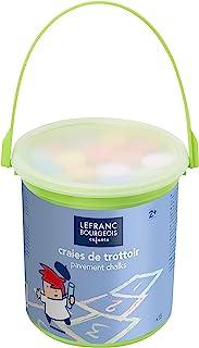 Lefranc & Bourgeois 807242 儿童街头粉笔(套装采用实用塑料桶,15种颜色,易于用水去除)