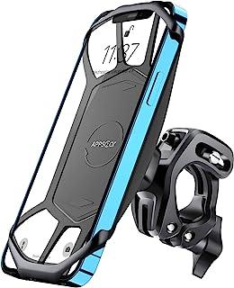 车把手机支架,360° 旋转防摇旋转自行车手机支架,自行车手机支架手柄,兼容 4-7 英寸智能手机,iPhone 12 Pro Max/11/8,Samsung S21/S10