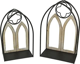 Special T Imports 2 件套哥特式拱形窗挂壁架金属框架装饰拱门