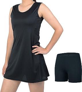 beroy 网球高尔夫连衣裙女式短裤 - 女式无袖和 4 口袋锻炼锻炼服