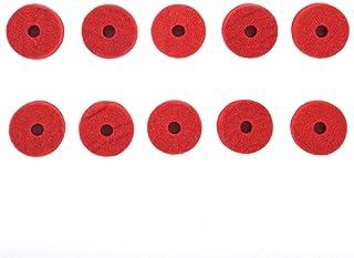 毛毡水槽,3.8 x 1.3厘米,红色,10件