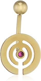 纯灰色中性款吊饰脐环 脐环 钛 紫色锆石 明亮式切割 德国制造 - 珠宝永恒 Ybells 12 ZRN Fu