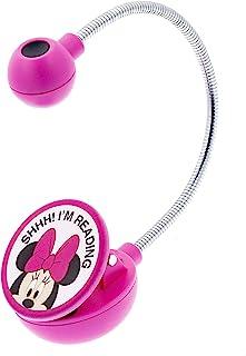 WITHit Disney 夹式书灯 �C 米妮 �C LED 阅读灯,减少眩光,便携,轻质书签灯,适用于儿童和成人,含电池
