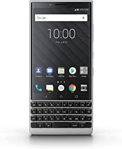 BlackBerry KEY2 Black Unlocked Android 智能手机 (AT&T/T-Mobile) 4G LTE,(银色,64GB)