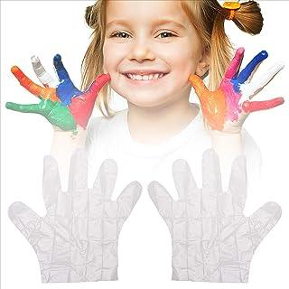 micia luxury(美西亚奢华)儿童塑料手套 一次性100片装 透明 保护 19x24cm 3岁~
