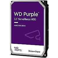 WD 西部数据 紫色 18TB 监控硬盘 - 7200 RPM Class SATA 6 Gb/s 256MB 缓存 3…