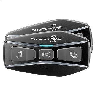 Interphone Cellularline INTERPHOUCOM4 双蓝牙 5.0 互联网,用于摩托车,4,距离 1 Km,自动适应15 Hours,Mp3,GPS,IP67 防水,通用,黑色Interhoucomcomcom。 4tp。