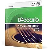D'Addario EJ15 磷青铜原声吉他弦EJ18 1 件装 Heavy, 14-59