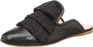 Rachel Zoe 女士 Kaius 平底流苏露背拖鞋