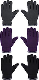 3 双装儿童抓绒滑雪手套儿童冬季保暖手套厚保暖手套
