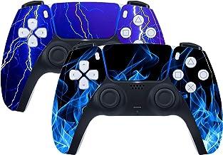 PS5 控制器皮肤乙烯基贴花贴纸 保护盖 适用于 PlayStation 5 PS5 DualShock 无线游戏手柄 (C-2 件)