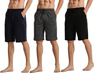 3 件装男士睡衣短裤带口袋 柔软睡裤 莫代尔休闲裤轻质抽绳短裤